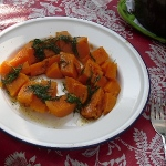 Sweet potatoes with butter and dill